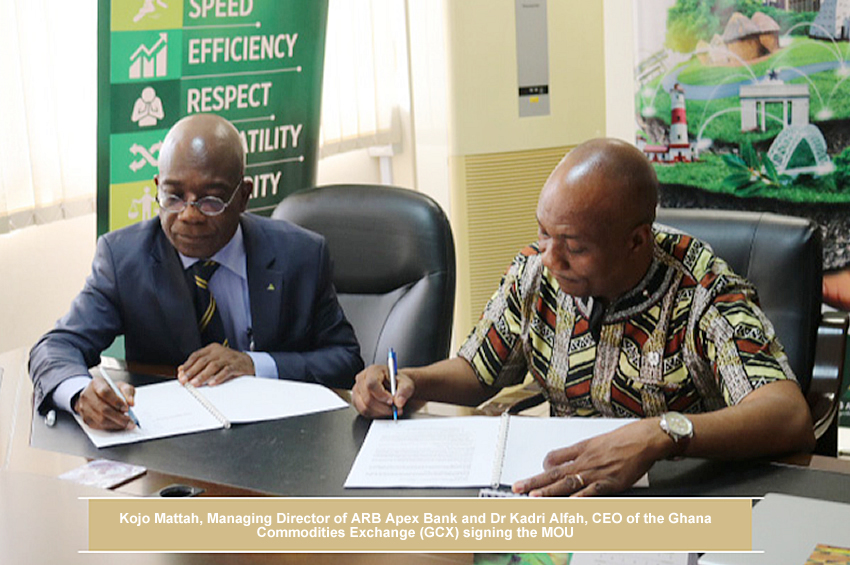 ARB Apex Bank Partners With Ghana Commodities Exchange